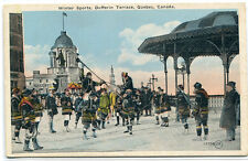 Winter Sports Dufferin Terrace Montreal Quebec Canada 1920c postcard