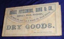 SE527 Vtg Burke Fitzsimons Hone & Co Dry Goods Rochester NY 1860 Ad