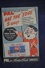 PAL Hollow Ground Has the 'Edge' Razor Blade Free Sample