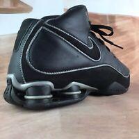 NIKE ELITE FLIGHT SHOX Basketball Shoes Black Leather 2008 SZ- 11.5  324826-001