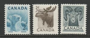 Canada 1953 National Wild Life Week set SG 447-449 Mnh.