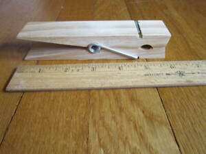 """HUGE Clothespin Clip Wood 6"""" Large Clamp Novelty Craft Crafting NEW FREE SHIP"""