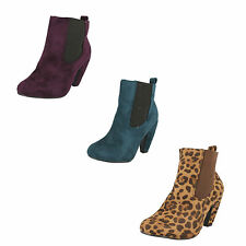 Spot On Textile Upper Ankle Boots for Women