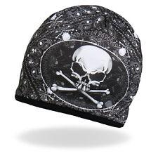 HD Sublimation Paisley Bones Black White Biker Stocking Skull Cap Beanie Rider