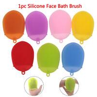 Silicone Massage Bath Brush Face Body Scrubber Glove Exfoliating Brush Skin BDA