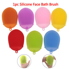 Silicone Massage Bath Brush Face Body Scrubber Glove Exfoliating Brush Skin S BE