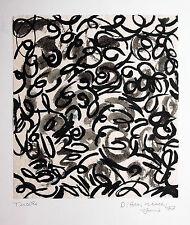 Helmut Dittmann 1931-2000 Berlin: Informel Abstraktion Tusche 1977, 30 x 27 cm