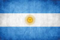 Argentina Bandiera Bandiera Segno Metallo Insegna Targa Metallo 20 x 30 CM