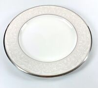 "Noritake Silver Palace 4773 Bone China Dinner Plate 10 3/4"" Platinum Trim Japan"