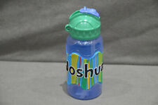 400ml Water Juice Bottle Straw And Flip Top School High Quality Name - Joshua