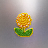 Sunflower Patch — Iron On Badge Embroidered Motif — Yellow Cute Fun Applique