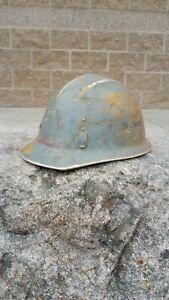 EARLY! Vintage E.D. BULLARD HARD BOILED ALUMINUM HARD HAT 502 S.F. Calif. USA