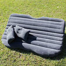 Inflatable Travel Camping Car Seat, Sleep Rest Mattress Air Bed W/ Pillow