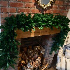 Premier Christmas Xmas Green Decoration Garland 2.7m [FTG149289-ST]