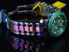 Invicta Pro Diver Scuba Crazy Iridescent Finish VD55 Chrono Grn Carbn SS Watch