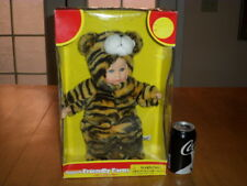 """BABY DOLL - HUGGABLE FRIENDLY FARM ANIMAL - """"TIGER SUIT ON BABY DOLL"""", 13"""" TALL"""