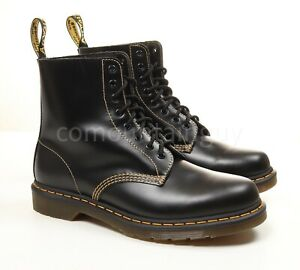 Dr. Martens 1460 Pascal black with yellow stitching boots sz 11