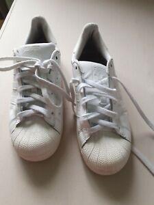 Adidas Superstar White Trainers 5.5