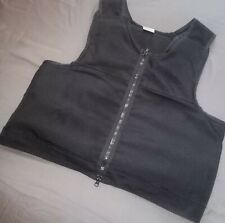 More details for hawk black overt body armour bullet proof spike stab vest for security bullet xl