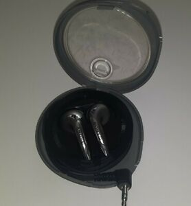 Vintage Sony Corded Ear Buds With Winding Case