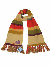 Doctor Who Acrylic Fourth Doctor Multi-coloured Striped Short Scarf