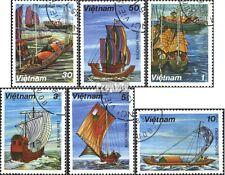 Vietnam 1285-1290 (kompl.Ausg.) gestempelt 1983 Segelschiffe EUR 2,50