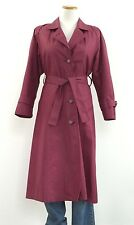 Vintage London Fog Belted Trench All Weather Coat Made in USA Womens Size 6P