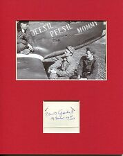 Gen Frank Gailer WWII War Fighter Ace Pilot POW Signed Autograph Photo Display