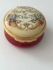 Halcyon Days enamel box - The Best of Times is Now