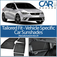 Seat Ibiza 5dr 2017 On UV CAR SHADES WINDOW SUN BLINDS PRIVACY GLASS TINT BLACK