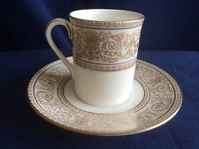 Royal Doulton Sovereign coffee can & saucer (minor gilt wear )