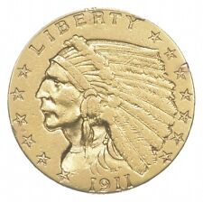 $2.50 United States 90% US Gold Coin - 1911 Indian - No Reserve *553