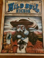 Vintage SCHLITZ MALT LIQUOR 'WILD BULL HICKOK'POSTER STROH BREWERY 1983