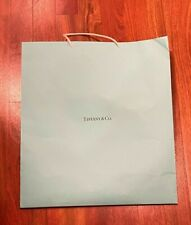 Tiffany Blue gift bag with white gift ribbon - large size - LQQK!