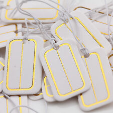 100PCS Earring Ring Jewelry Price Paper Gilding Label Chain Tag Cards 25x15mm