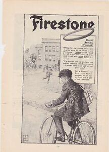 1890s VINTAGE MAGAZINE AD #B1-22 - FIRESTONE BICYCLE TIRES