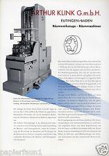Maschinenfabrik Klink Eutingen XL Reklame 1956 Räumwerkzeug Räummaschine Werbung