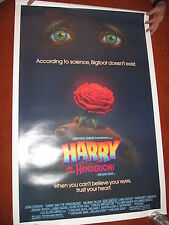 HARRY and the HENDERSONS original MOVIE POSTER 1987>ROLLED 1980's comedy Bigfoot