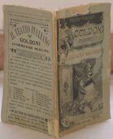 CARLO GOLDONI IL CAVALIER GIOCONDO 1890 PERINO PLANCHES