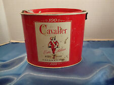 Vintage EMPTY Cavalier Extra Mildness King Size Cigarettes Tin 100 ct Locktop