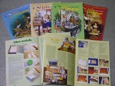 4 riviste LA BACCHETTA MAGICA MINIATURE e creazioni in pasta sintetica roombox 1