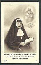 Estampa antigua de la Sierva Maria Ana Ravell andachtsbild santino holy card