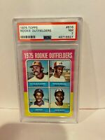 1975 Topps Rookie Outfielders Dave Augustine, Mangual, Jim Rice, Scott PSA NM 7