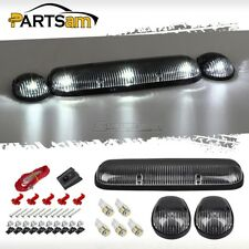 3PC Clear Cab Marker Roof Lights+168 5050 White LED bulbs Car Truck SUV Off Road