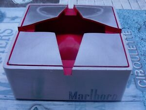 POSACENERE MARLBORO STAR ASHTRAY RED METAL METALLO E PLASTICA ROSSO USATO BELLO