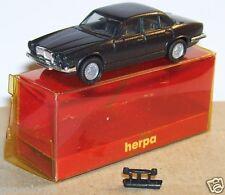 MICRO HERPA HO 1/86 1/87 JAGUAR XJ 6 12 GRIS FONCE METAL in BOX