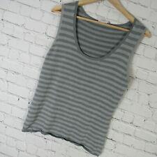 Akris Punto 12 Top Womens Green Stripe Silk Blend Sleeveless