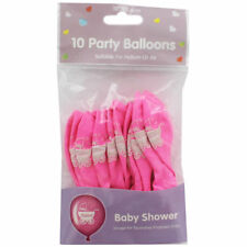 Pink Baby Shower Balloons - Pack Of 10, helium or air