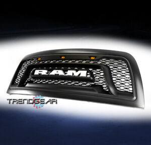 For 2010-2018 Dodge Ram 2500 3500 Pickup Hood Upper Grille Shell w/Lights Black