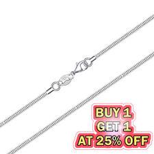 925 Sterling Silver Snake Chain Necklace w/ Lobster Lock Men's Women's 16-24inch